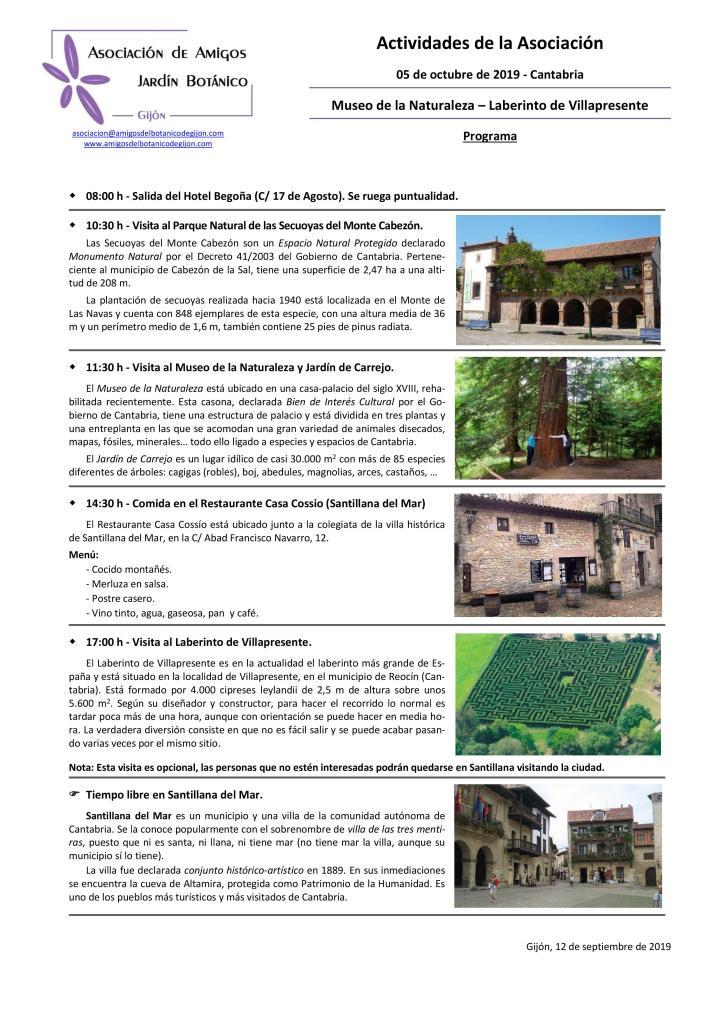 Excursión a Cantabria